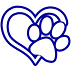 pawprint with heart