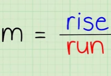 slope equals rise over run