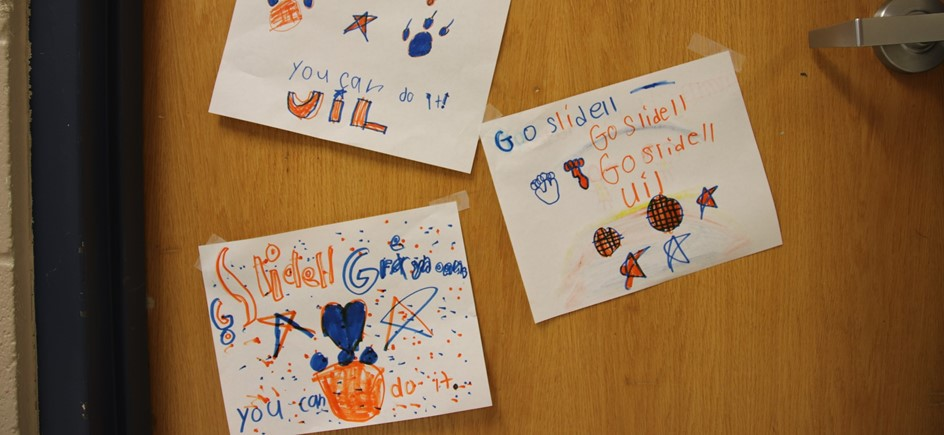 encouraging signs for uil created by elementary students